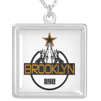 BROOKLYN  NYC SQUARE PENDANT NECKLACE