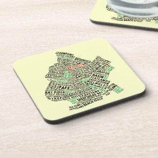 Brooklyn NYC Typography Map Coaster