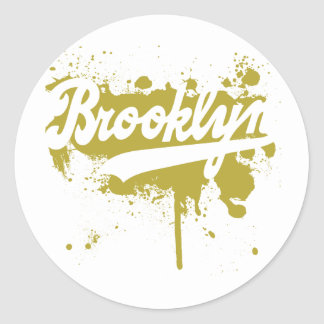 Brooklyn Painted Mustard Sticker