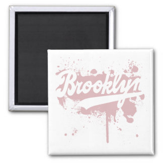 Brooklyn Painted Pink Magnet