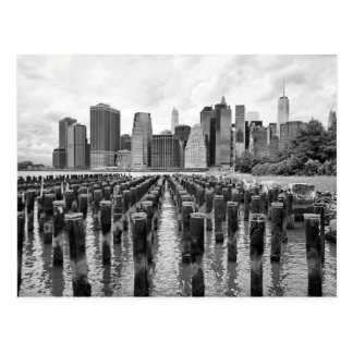 Brooklyn Pier Pylons Postcard
