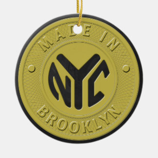 Brooklyn Subway Token Christmas Ornament