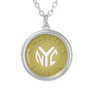 Brooklyn Subway Token Silver Plated Necklace
