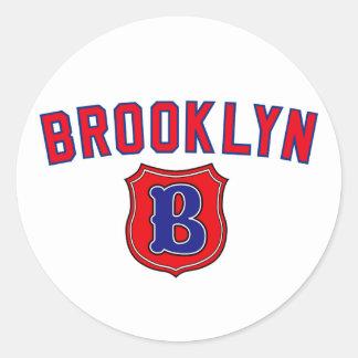 Brooklyn Throwback Classic Round Sticker