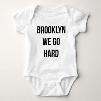 Brooklyn We Go Hard Baby Bodysuit