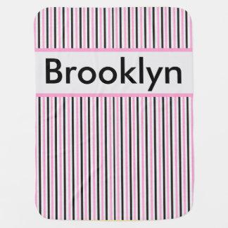 Brooklyn's Personalized Stripe Blanket