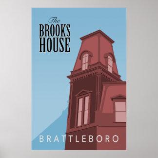 Brooks House Hotel Retro Poster