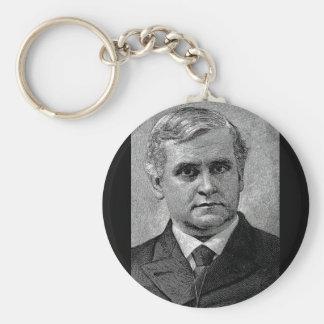 Brooks - Phillips / Episcopal Bishop Author Basic Round Button Key Ring