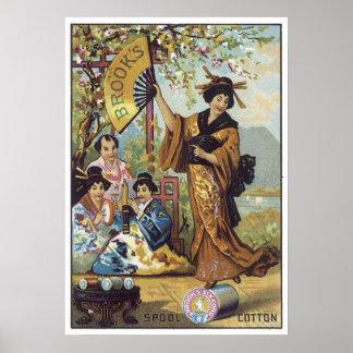 Brooks Spool Cotton Japan Poster