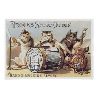 Brooks Spool Cotton Poster