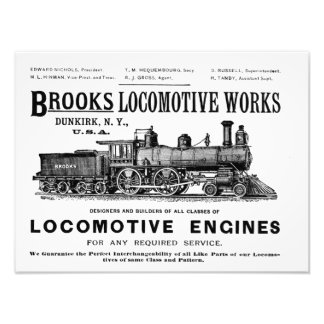 Brooks Steam Locomotive Works 1890 Kodak Art Photo