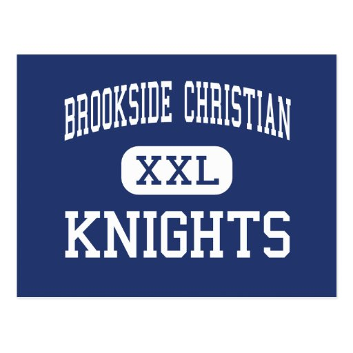 Brookside Christian - Knights - High - Stockton Postcards