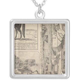 Brookside Dairy Farm Silver Plated Necklace