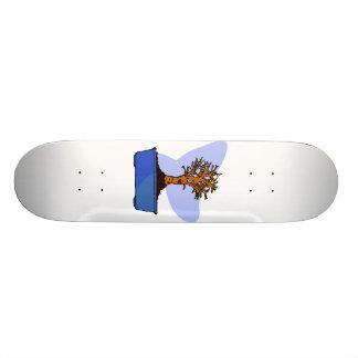 Broom Bonsai Trimmed Blue Pot Graphic Image 19.7 Cm Skateboard Deck