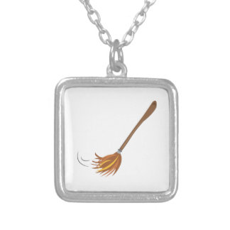 Broom Square Pendant Necklace