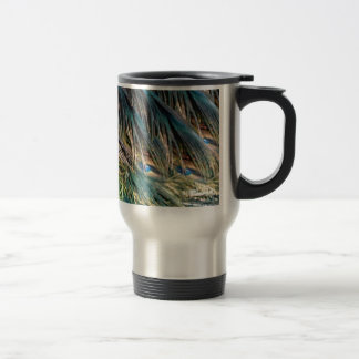 Broom Peacock Feathers Blue Eyes Travel Mug