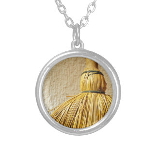 Broom Silver Plated Necklace