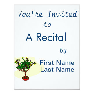 Broom style flowering bonsai graphic personalized announcement