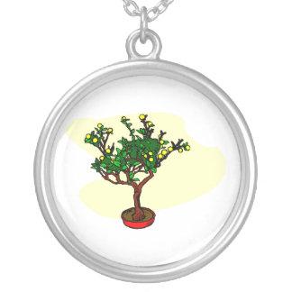 Broom style flowering bonsai graphic pendants