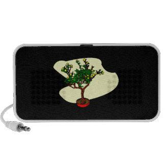 Broom style flowering bonsai graphic notebook speaker