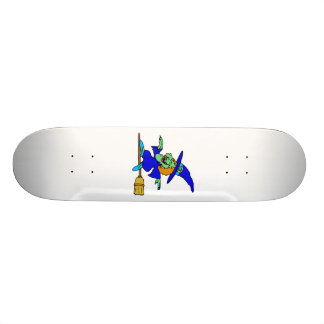Broom Surfing Witch Custom Skate Board