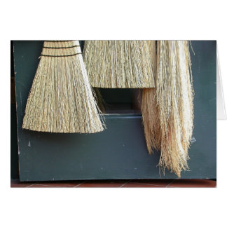 Broom Trio Greeting Card