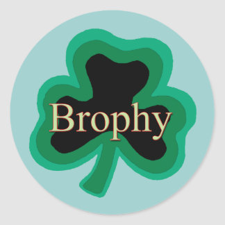 Brophy Irish Round Sticker