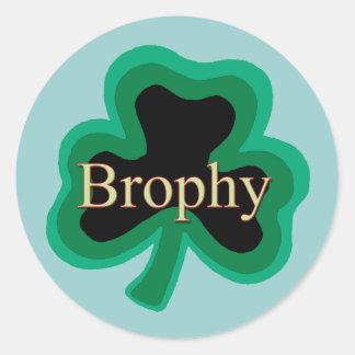 Brophy Irish Round Sticker