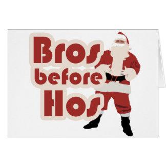 Bros Before Hos Santa Card