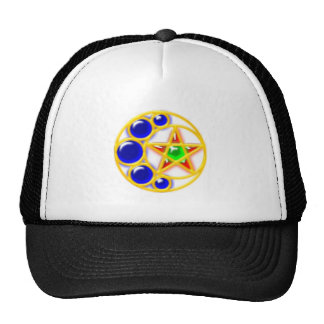 brosche brooch half-moon star crescent star cap
