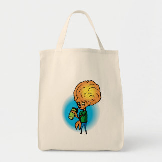 Brother Alien Drinking Soda Canvas Bag