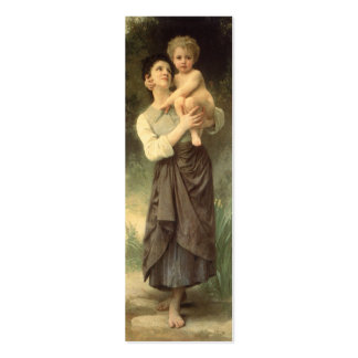 Brother and Sister, Bouguereau, Vintage Victorian Business Card Template