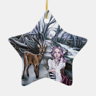 brother and sister ceramic star decoration