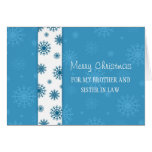 Brother and Sister  in Law Merry Christmas Card