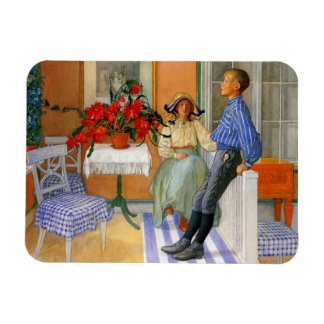 Brother and Sister in the Sunroom 1911 Rectangular Photo Magnet