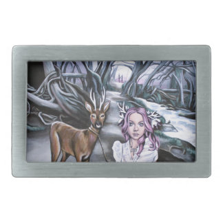 brother and sister rectangular belt buckles