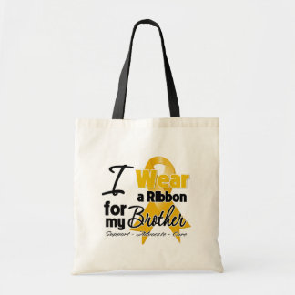Brother - Appendix Cancer Ribbon Budget Tote Bag