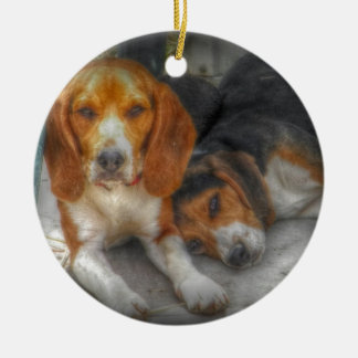 Brother Beagles Christmas Ornament