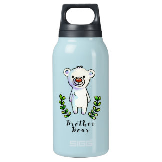 Brother Bear Ink and Watercolor Illustration Insulated Water Bottle