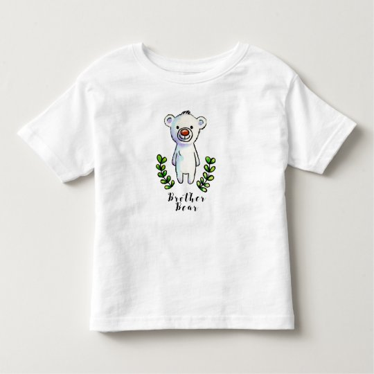 Brother Bear Ink and Watercolor Illustration Toddler T-Shirt