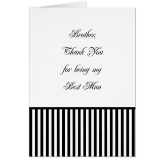 Brother Best Man Thank You Card