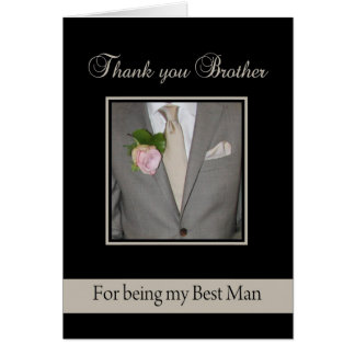 Brother best man thank you note card