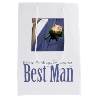 Brother best man thank you medium gift bag