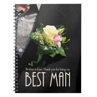 Brother best man thank you notebook