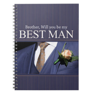 Brother best man thank you notebooks