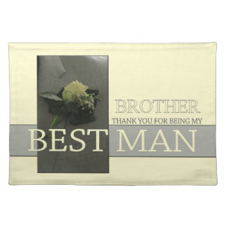Brother best man thank you placemat