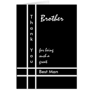 BROTHER - Best Man Wedding Thank You Card