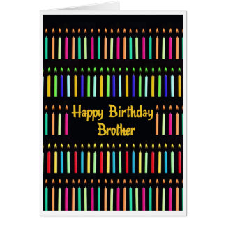 Brother Birthday Candles Funny Card