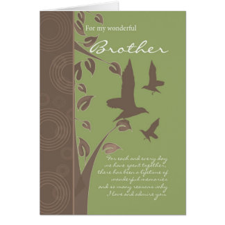 brother birthday card - birthday greeting card for