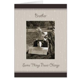 Brother Birthday Farm Boy Humor Greeting Card
